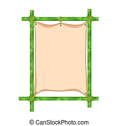 Bamboo frame Vector illustration isolated on white...