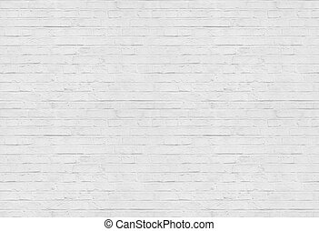 Seamless white brick wall pattern background - high quality...