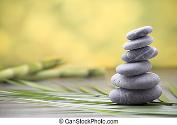 Wellness background - Stones spa treatment scene, zen like...