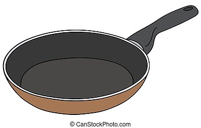Brown pan - Hand drawing of a brownand black pan