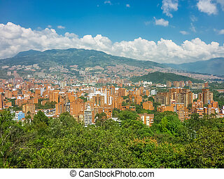 Aerial View of Medellin from Nutibara Hill