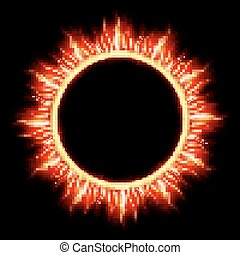 Solar Eclipse template. EPS 10 vector file included