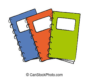 notepad - nice sketch illustration of notepad isolated on...