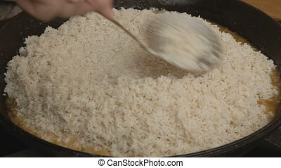 cooking pilaf