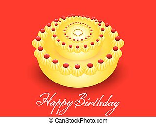 abstract vector birthday cake