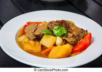 Ragout with meat and vegatables