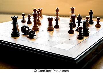 Playing Chess - Playing chess and doing strategical moves