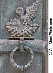 Ancient Door Knocker in Fredrikstad, Norway