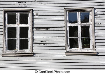 Traditional house in Fredrikstad - Details of a traditional...