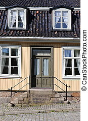 Traditional house in Fredrikstad, Norway