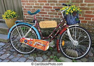Funny bike in Fredrikstad - A funny bike in Fredrikstad,...