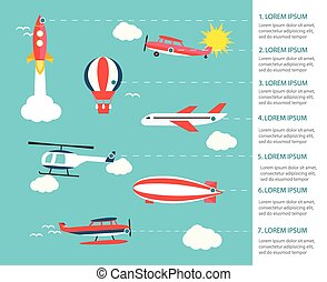 Air transportation infographics - Air transportation...