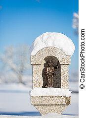 St. Coloman figurine in Schwangau near Neuschwanstein,...