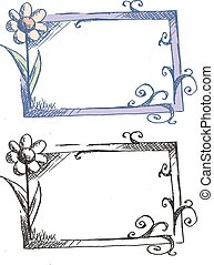 Frame with flowers (vector sketch)