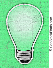 Green bulb - Creative design of Green bulb