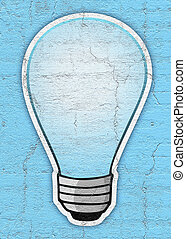 Blue bulb - Creative design of Blue bulb