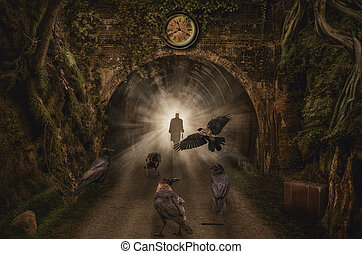 tunnel - (illustration of a fictional situation, in the form...