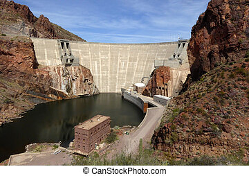 Theodore Roosevelt Dam, Arizona, USA - The Theodore...