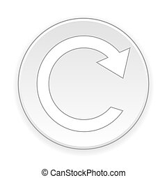 Repeat sign button - Repeat sign button on white background...