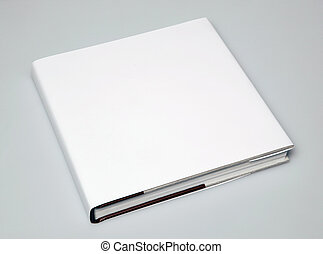 A blank book 2 - A blank book in angle on white paper 2