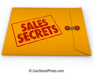 Sales Secrets Yellow Envelope How to Make a Sale