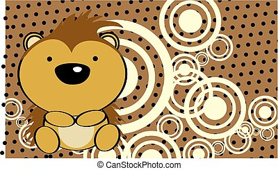 cute baby porcupine background in vector format very easy to...