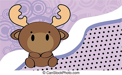 cute baby moose background in vector format very easy to...