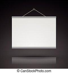 blank projector screen