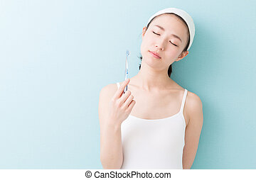 woman beauty image - young attractive asian woman with...