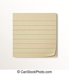 blank stick note paper isolated on white background