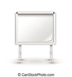 blank metal sandwich board