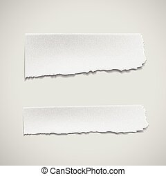 white ripped paper