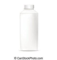 blank plastic bottle isolated on white background