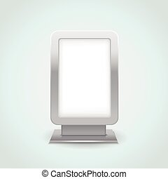 blank vertical billboard isolated on empty space
