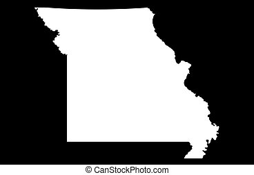 State of Missouri - black background