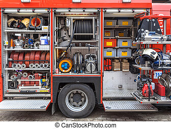 Equipment Inventory of a Fire Engine - Hoses, Valves and...