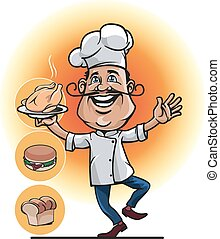 mascot professional chefs - mascot for the restaurant...