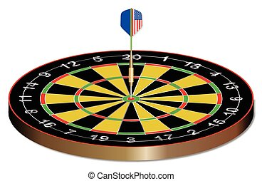 Bullseye - A dart in the bullseye of a dartsboard