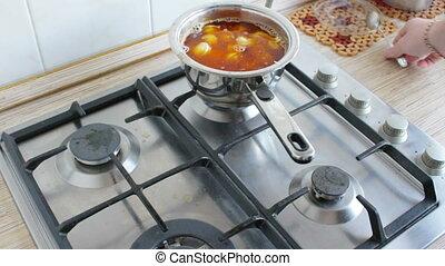 cooking dumplings - cooking meat dumplings