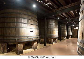 Interior of  old winery