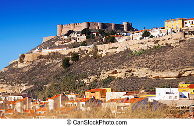 General view of castle of Chinchilla Chinchilla de...
