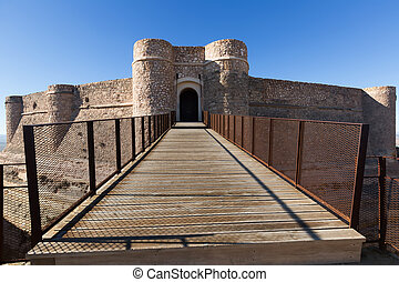 Gate of castle of Chinchilla,  province of Albacete, Spain