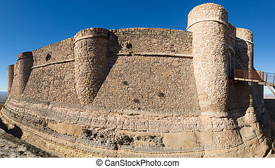 Castle of Chinchilla - Day view of castle of Chinchilla...
