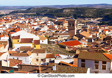 Chinchilla de Monte-Aragon from hill Albacete - General view...