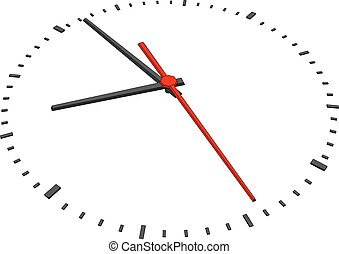 Clock face without figures on isolated white background...