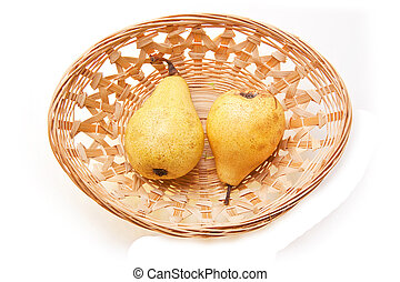 Two Pear In Basket