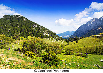 mountains landscape in Pyrenees, Catalonia