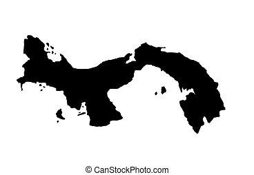 Republic of Panama - white background