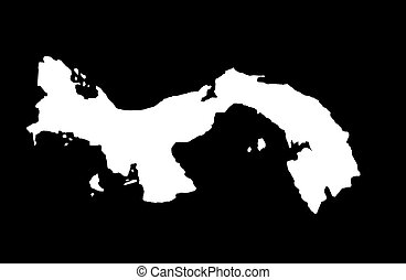 Republic of Panama - black background