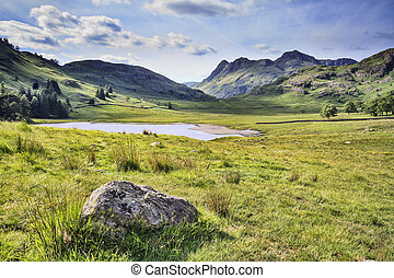 Blea Tarn - blea tarn in the lake district cumbria UK
